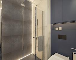 Mieszkanie na Woli c.d.- łazienka z prysznicem - zdjęcie od AIN projektowanie wnętrz