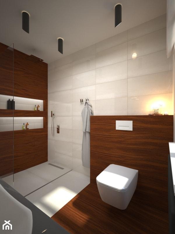 łazienka Z Drewnem Merbau Zdjęcie Od Ain Projektowanie