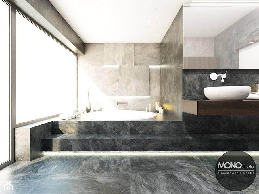 Łazienka w klimacie minimalistycznym - zdjęcie od MONOstudio