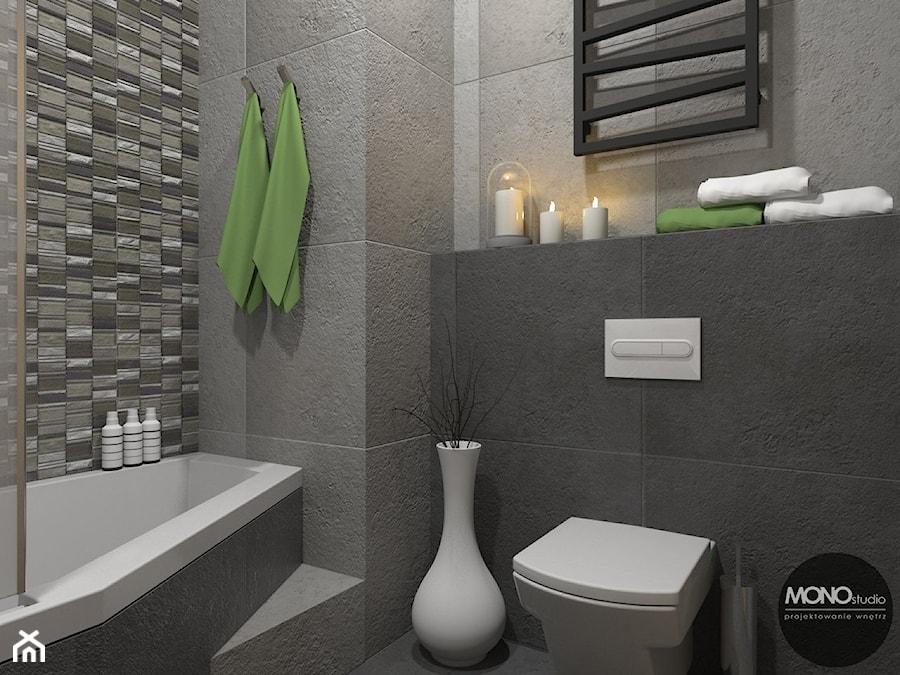 łazienka Z Zielonymi Dodatkami Zdjęcie Od Monostudio