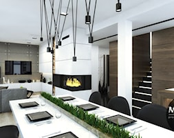 Jadalnia otwarta na kuchnię i salon - zdjęcie od MONOstudio - Homebook