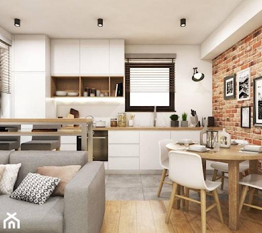 Kuchnia Z Elementem Cegły Zdjęcie Od Monostudio Homebook