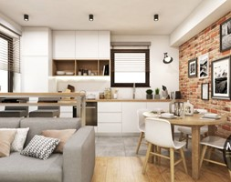Kuchnia z elementem cegły - zdjęcie od MONOstudio - Homebook