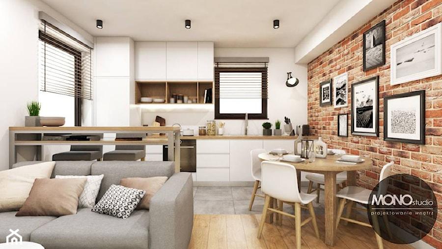 Kuchnia z elementem cegły  zdjęcie od MONOstudio -> Kuchnia Z Cegly