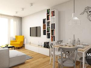 Salon w klimacie skandynawskim - zdjęcie od MONOstudio