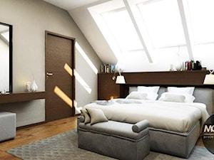 Sypialnia w nowoczesym stylu - zdjęcie od MONOstudio