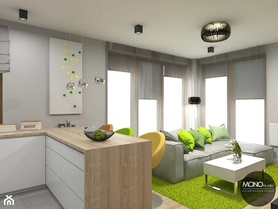 Otwarte Przestrzenie Salonu I Kuchni Zdjecie Od Monostudio Homebook