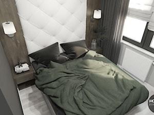 Minimalistyczna sypialnia w mieszkaniu w Krakowie