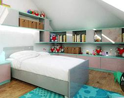 Pokój dziecka z blękitnymi akcentami - zdjęcie od MONOstudio
