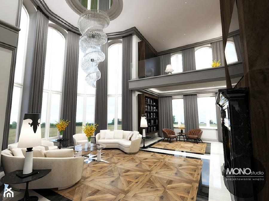 Ekskluzywny salon w nowoczesnym klimacie - zdjęcie od MONOstudio