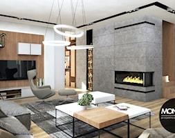 Nowoczesne i eleganckie wnętrze w przestronnym apartamencie - zdjęcie od MONOstudio - Homebook
