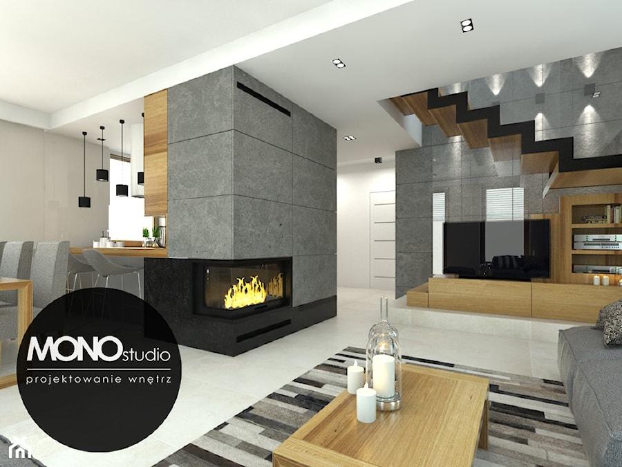Nowoczesna minimalistyczna kuchnia w jasnej tonacji . - zdjęcie od MONOstudio