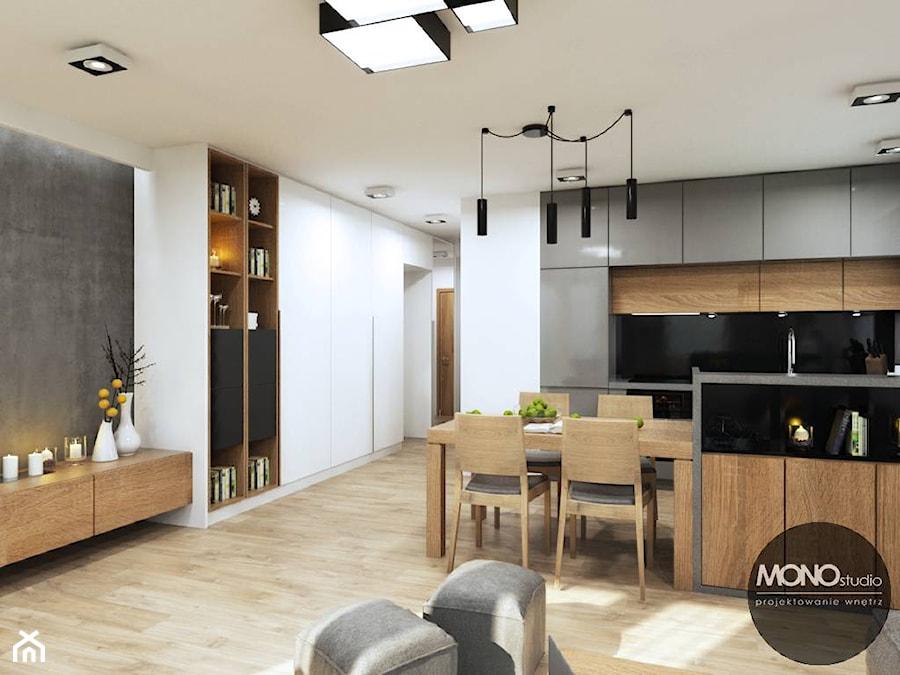 Kuchnia Otwarta Na Salon Zdjęcie Od Monostudio Homebook