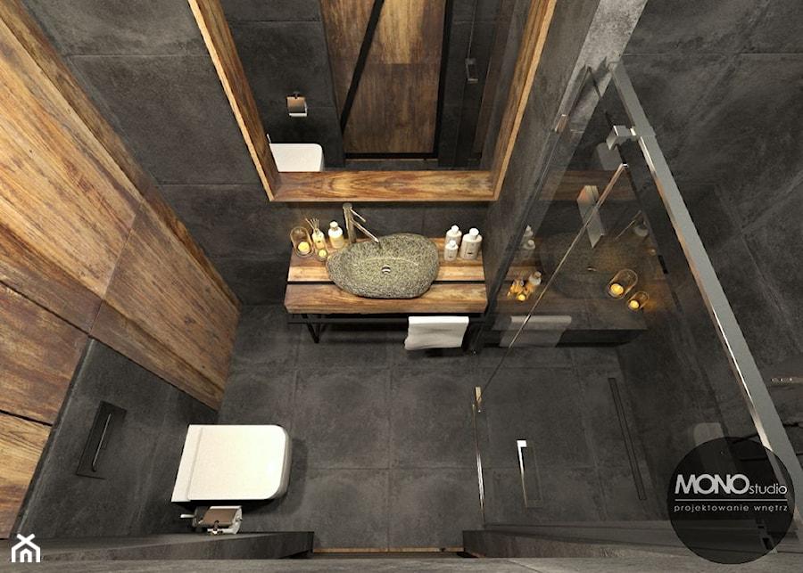 Łazienka w klimacie industrialnym - zdjęcie od MONOstudio
