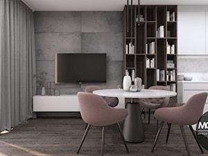 Kobiece mieszkanie w stylu glamour z elementami industrialnymi