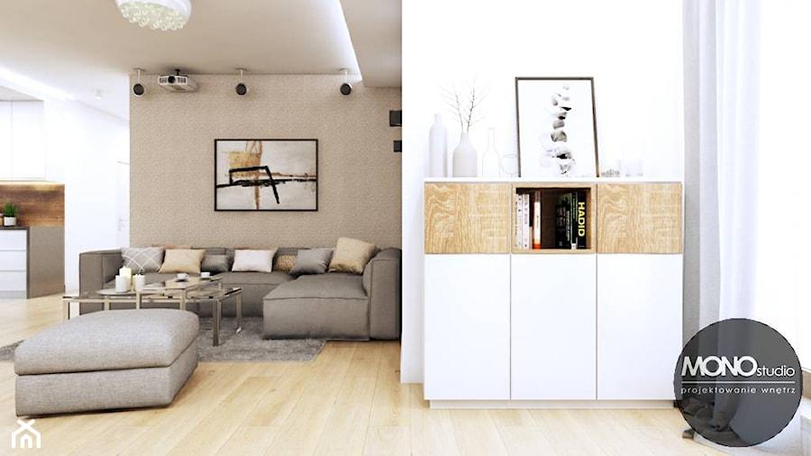 Salon w minimalistycznym klimacie - zdjęcie od MONOstudio
