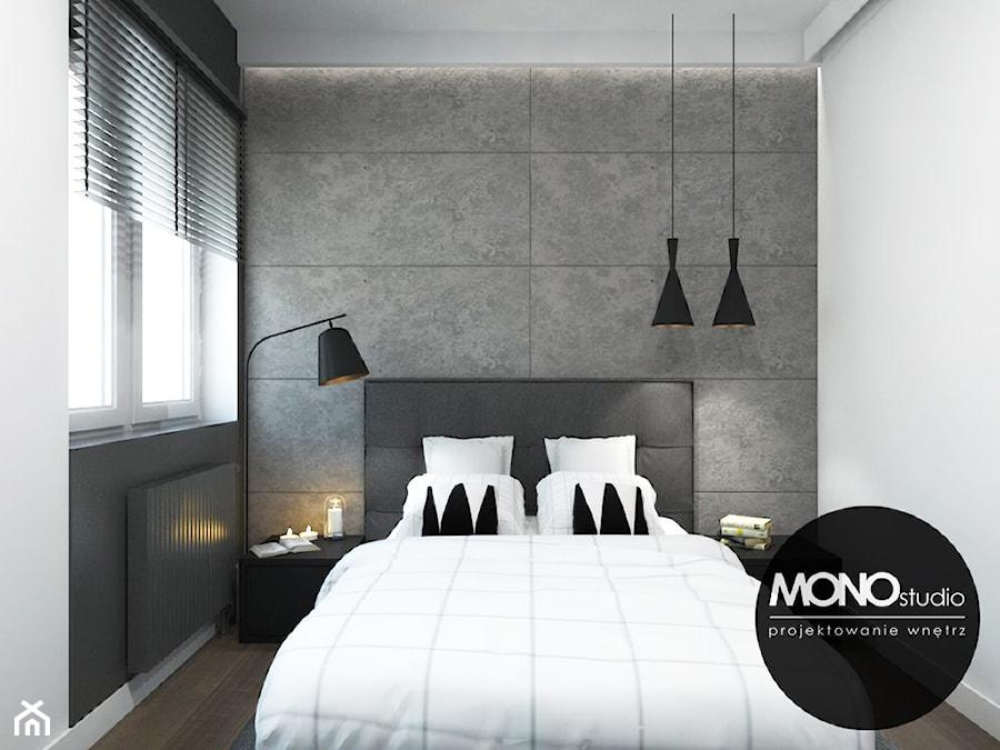 Oryginalna i nowoczesna sypialnia z akcentem. - zdjęcie od MONOstudio - homebook