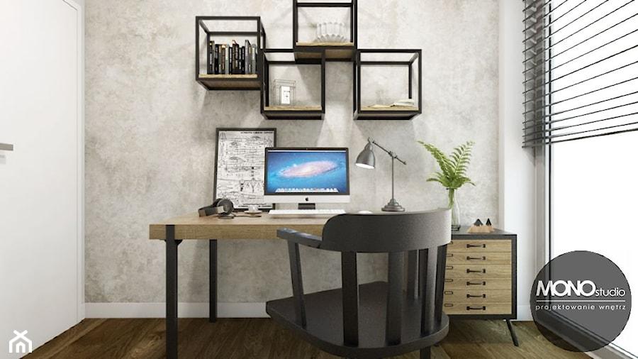 Aranżacje wnętrz - Biuro: Biuro domowe w skandynawskim klimacie - MONOstudio. Przeglądaj, dodawaj i zapisuj najlepsze zdjęcia, pomysły i inspiracje designerskie. W bazie mamy już prawie milion fotografii!