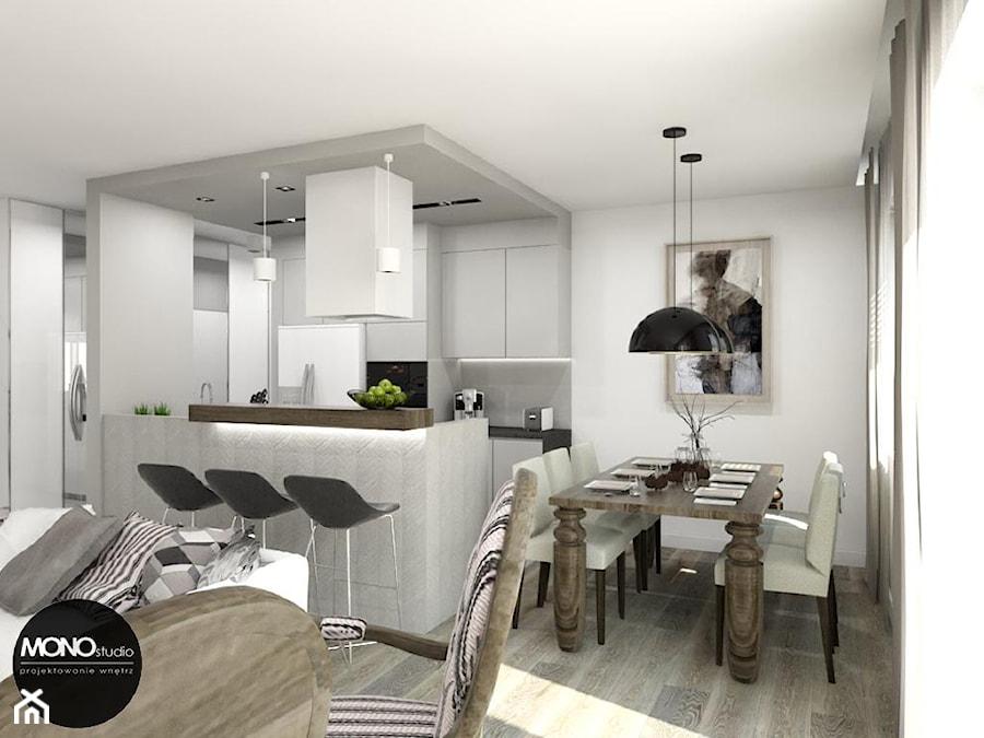 Kuchnia, jadalnia i salon w jednym  zdjęcie od MONOstudio