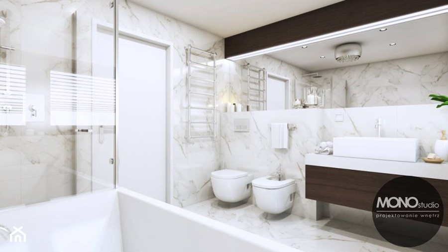 Łazienka w bieli - zdjęcie od MONOstudio