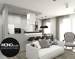 Nowoczesna minimalistyczna kuchnia w jasnej tonacji. - zdjęcie od MONOstudio - Homebook