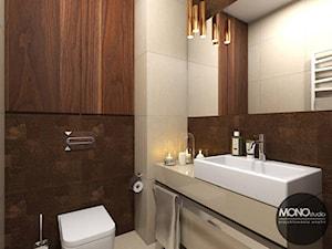 Łazienka w drewnie i bieli - zdjęcie od MONOstudio