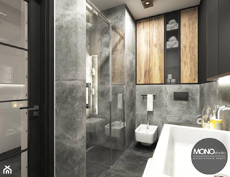 łazienka W Szarości Zdjęcie Od Monostudio Homebook