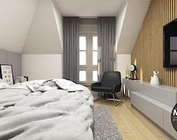 Sypialnia w nowoczesnym klimacie - zdjęcie od MONOstudio