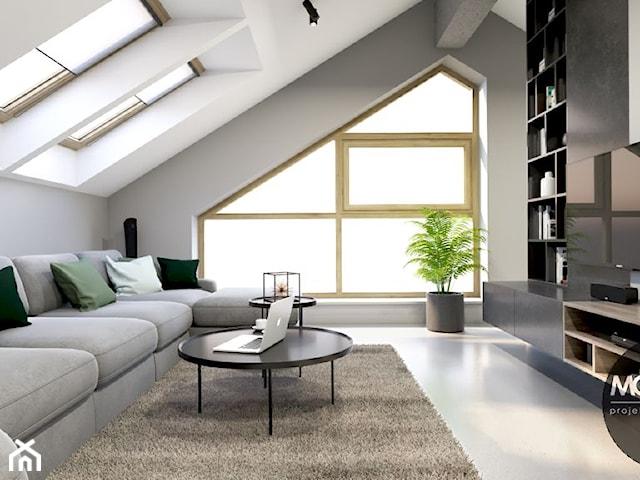Minimalistyczny apartament na poddaszu