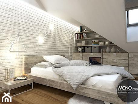 Aranżacje wnętrz - Sypialnia: Sypialnia w klimacie skandynawskim - MONOstudio. Przeglądaj, dodawaj i zapisuj najlepsze zdjęcia, pomysły i inspiracje designerskie. W bazie mamy już prawie milion fotografii!