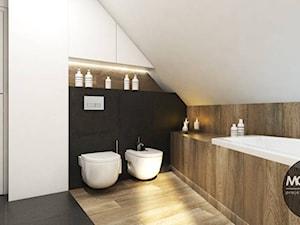 Łazienka w ciepłym, nowoczesnym klimacie - zdjęcie od MONOstudio
