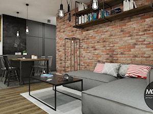 Kuchnia z salonem w stylu industrialnym - zdjęcie od MONOstudio