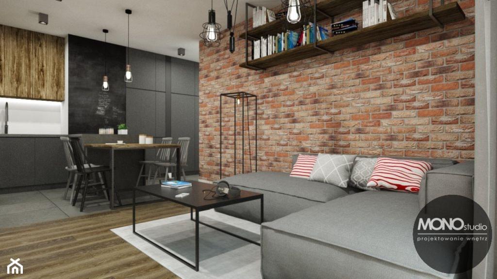 Kuchnia z salonem w stylu industrialnym - zdjęcie od MONOstudio - Homebook
