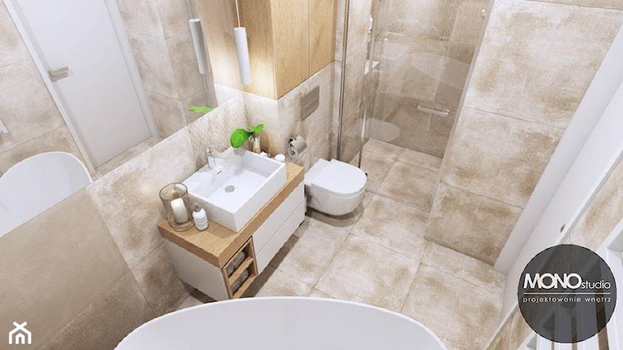 Łazienka w jasnych kolorach - zdjęcie od MONOstudio