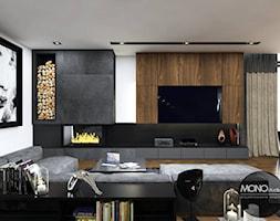 Salon+z+elementami+czerni+i+drewna+-+zdj%C4%99cie+od+MONOstudio
