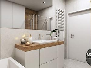 beżowo brązowa łazienka - pomysły, inspiracje z homebook
