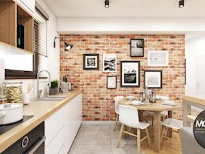 Kuchnia z elementem cegły - zdjęcie od MONOstudio