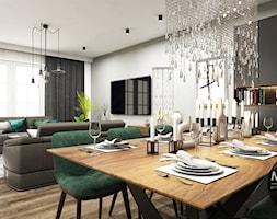 Salon+z+kuchni%C4%85+w+nowoczesnym+stylu+-+zdj%C4%99cie+od+MONOstudio