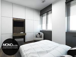 Oryginalna i nowoczesna sypialnia z akcentem.