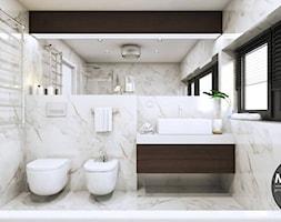 Łazienka w bieli w klimacie nowoczesnym - zdjęcie od MONOstudio