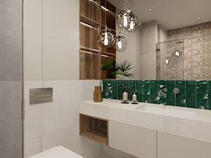 MONOstudio - łazienka z akcentem kolorystycznym