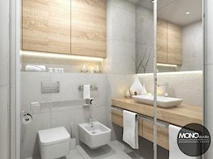 Jasna, rozświetlona łazienka - zdjęcie od MONOstudio