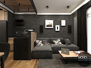 Salon w klimacie industrialnym - zdjęcie od MONOstudio