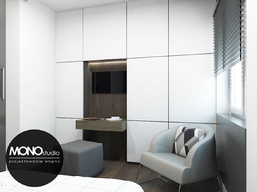 Oryginalna i nowoczesna sypialnia z akcentem. - zdjęcie od MONOstudio
