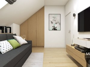 Pokój gościnny w nowoczesnym klimacie - zdjęcie od MONOstudio