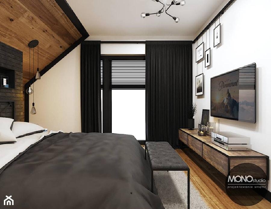 Sypialnia w industrialnym klimacie - zdjęcie od MONOstudio