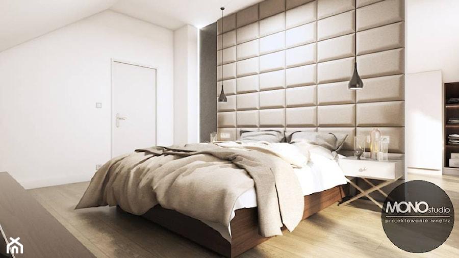 Aranżacje wnętrz - Sypialnia: Sypialnia w nowoczesnym klimacie - MONOstudio. Przeglądaj, dodawaj i zapisuj najlepsze zdjęcia, pomysły i inspiracje designerskie. W bazie mamy już prawie milion fotografii!