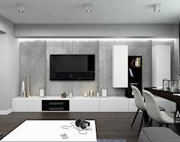Salon w minimalistycznym klimacie - zdjęcie od MONOstudio - Homebook