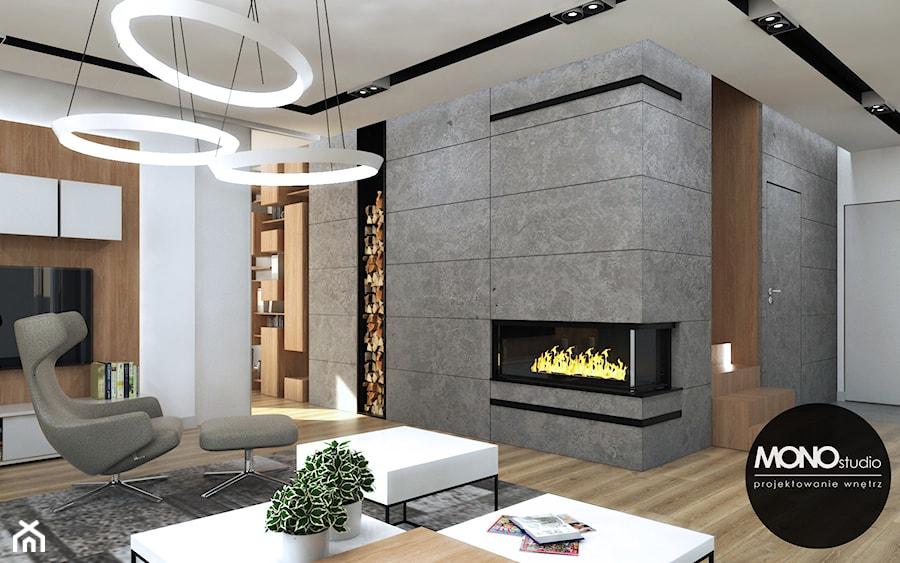 Nowoczesne i eleganckie wnętrze w przestronnym apartamencie - zdjęcie od MONOstudio