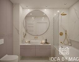 Kobiece wnętrze - Średnia biała szara łazienka bez okna, styl klasyczny - zdjęcie od Idea by Mag.